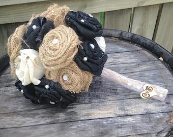 Rustic Burlap Bridal Bouquet