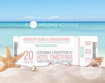 Wedding Invitation set, Destination Wedding Invitation, Printable Invitations, Destination invitation set: BROOKLYN DEST