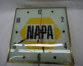 Vintage NAPA Advertising Clock