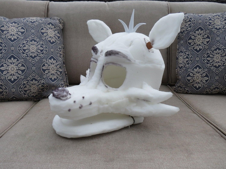 Foxy fnaf fursuit mask foam base by furstuff on etsy
