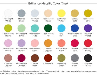 Brilliance Metallic Ink Pad, Metallic Stamp Ink, Shimmer Ink Pad, Stamp Ink Pad, Pearlescent Ink Pad, Brilliance Ink Pads