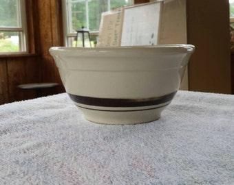 McCoy #8 brown striped bowl