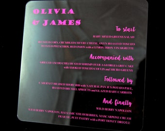 Color Printed Acrylic Invitations
