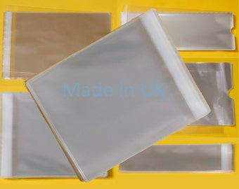 160mm x 155mm + 30mm Flap - Cellophane Greeting Card Display Bags 30 Micron Self Seal - Large Square