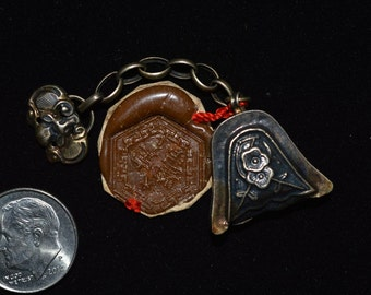 Antique Chinese Silver Pendant Rattle/Shaker in the Shape of Bell #21