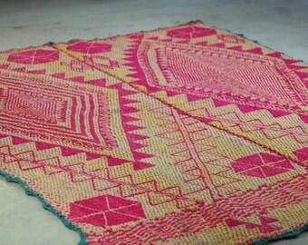 Handmade Vintage Heirloom Peruvian Rug