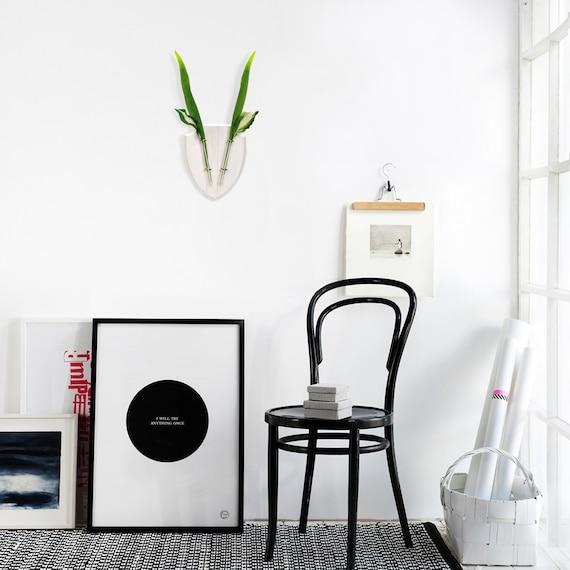 Rustic Wall Vase - Wooden Hanging Vase - Bud Vase - Flower Bud Vase -Test tube Vases - Wall decor