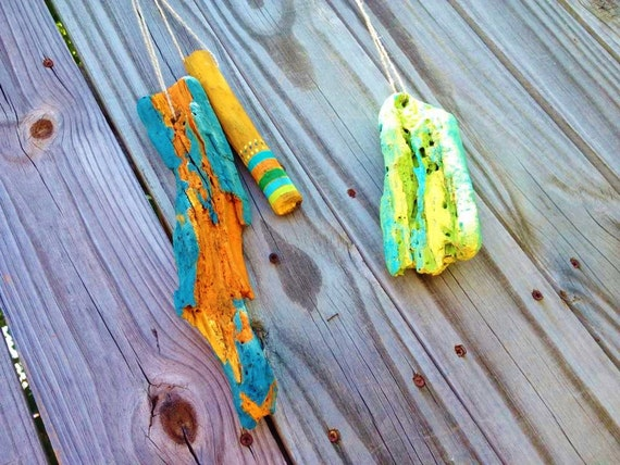 Items Similar To Art Hanging Painted Driftwood Driftwood