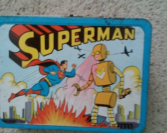 1970-80 -SUPERMAN Lunch Box in Very Good condition! 1957 -Rare! Just reduced by 100.00!