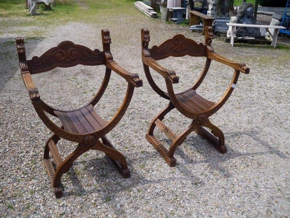 Matching pair antique oak saddle arm chairs 1920s 2318 by for Matching arm chairs