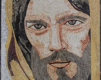 Beautiful Masterpiece Jesus Religious Christian Marble Mosaic FG1088