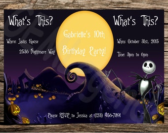 Nightmare Before Christmas Party Invitations, Nightmare Before Christmas Birthday Party, Nightmare Before Christmas Birthday, DIGITAL