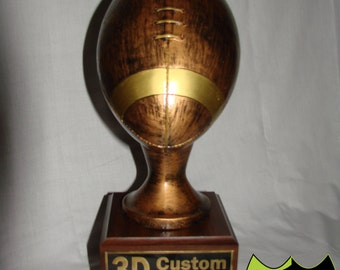 16 inch Bronze Fantasy Football Trophy up to 18 years of Perpetual Plates for Winners!