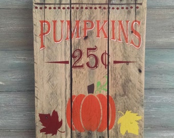 Fall Pumpkin Sign - Fall Home Decor - Fall Home Decorations - Pumpkin Sign - Rustic Sign - Decorative Signs - Autumn Home Decorations