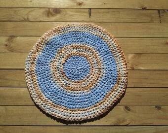 Crochet Rag Rug - Skies of Arizona