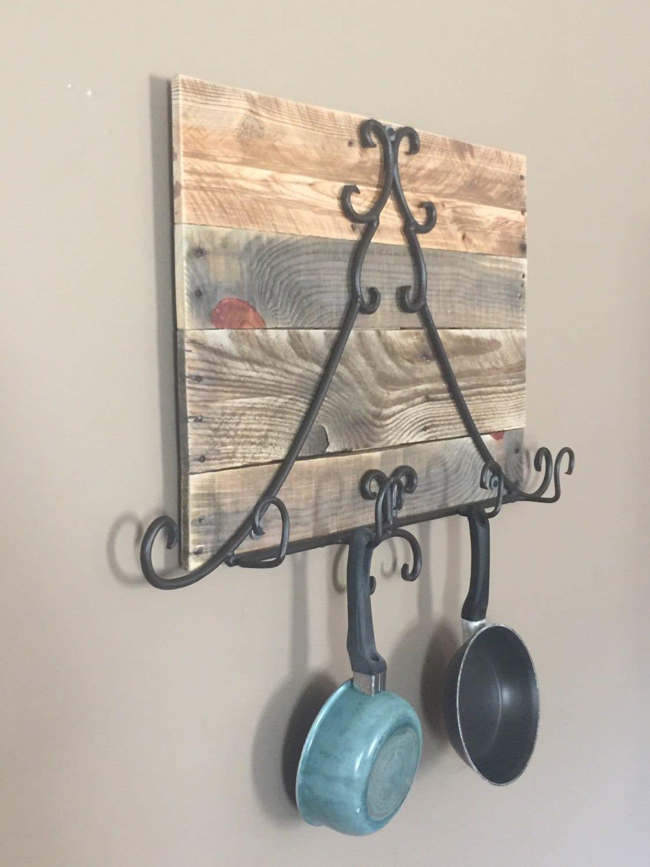 Rustic Pot and Pan Rack / Hanging Pot Rack/ Reclaimed Wood Pot