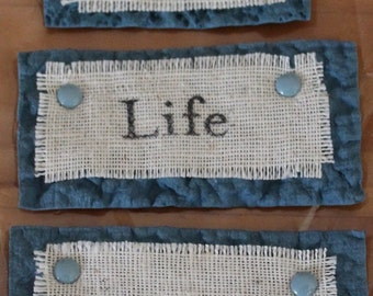 Life - Handmade Embellishment