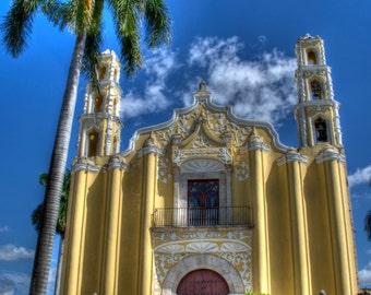 Photograph of a Spanish Colonial San Juan Church, Iglesia de San Juan Bautista, Merida, Yucatan, Mexico 201500066