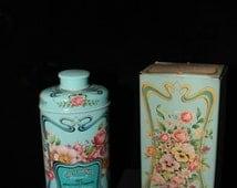 Vintage Avon perfumed talc,Trailing Arbutus, Avon tin collectible bathroom decor, avon collector