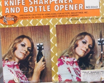Action Industries, Knife Sharpener and bottle opener in one!