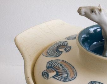 Retro Poole Pottery casserole