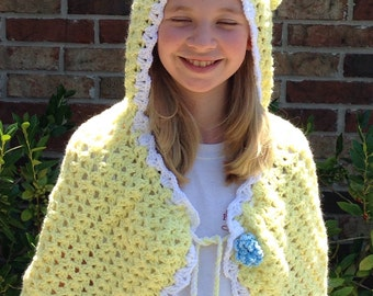 Yellow crocheted Cape
