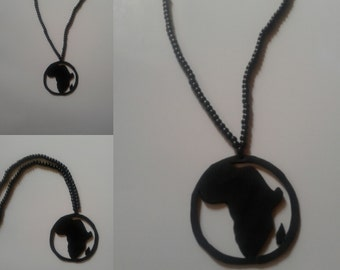 all black Africa circle necklace