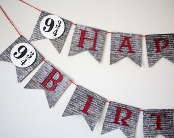 Harry Potter Inspired Birthday Banner
