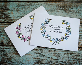 New baby tiny overlord blank greeting card