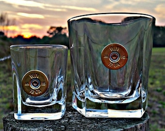 BUY 3 get the 4th FREE...Bullet Drinkware, glasses, rocks glass, shot glass, drinks ammo, bullets, hunting