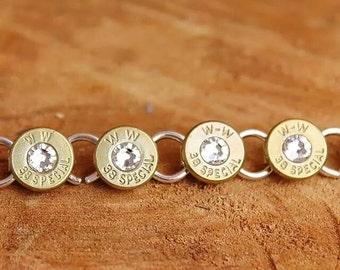 Bullet Bracelet, ammo jewelry, shotgun bracelet, spent rounds, recycled ammo, hunting bullets klassy rounds