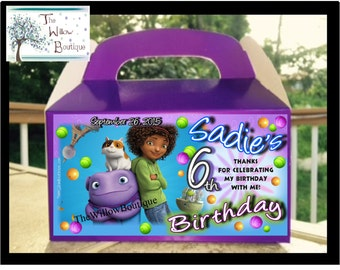 Personalized Home Cast BIRTHDAY Goody Candy Box Favors