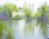 Summer Pond #1, custom printed photograph on fine art paper, abstract landscape, reflect, modern wall art, modern art, zen, peaceful, signed