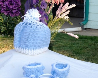 Baby Blue with White Trim