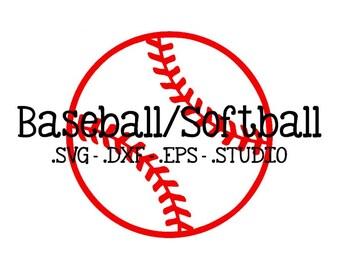Baseball Cut File - Softball Cut File - Baseball SVG - Softball SVG - Baseball DXF - Softball dxf - Baseball Studio - Softball Studio File