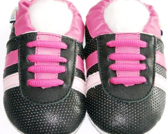 Free shipping Jinwood Soft Sole Leather Baby Shoes Infant Toddler Kids Children Boy Gift Sport Fuchsia Shoes