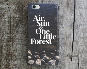 NATURE iPhone 6 Case. Typography iPhone 6 Case. River iPhone 6 Case. Forest iPhone Case. Nature iPhone 6 Plus Case. Case for iPhone 6. Men's