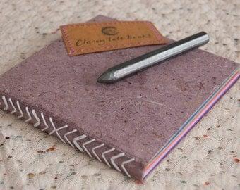 Purple Rainbow Page Square Hardback Notebook 15cm