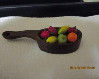 Vintage wooden pin , fruits and vegetabels