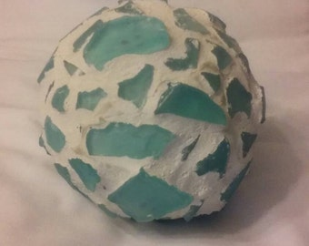 Seaglass garden ball