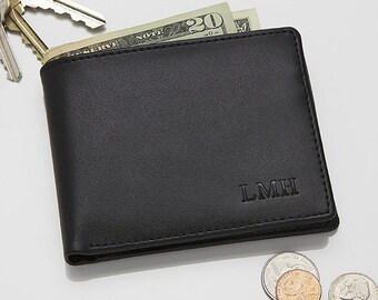 Regent Personalized Leather Bi-Fold Wallet