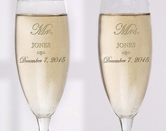 Mr. and Mrs. Collection Personalized Flute Se