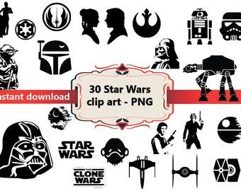 star wars silhouette clip art � cliparts
