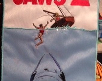Jaws 2 Soundtrack Poster Art Patch Rare 1978 Import Free Shipping!