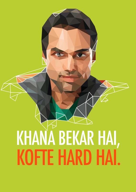 "Bollywood Meri Jaan: Khaana Bekar Hai, Kofte Hard Hai 11""x18"" Poster - il_570xN.817488563_aqep"