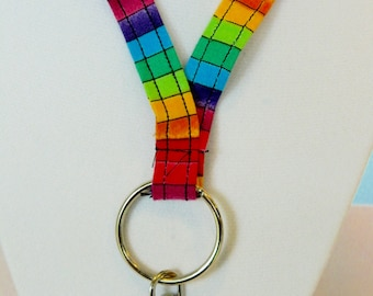 Rainbow Stripe Lanyard