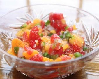 Make EPIC Peach Salsa At Home!