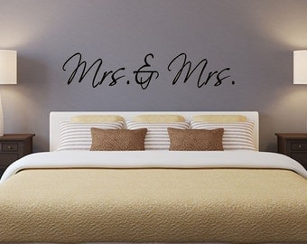 Mrs. and Mrs. 2 vinyl wall decal
