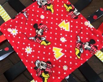 Minnie Mouse Sensory Blanket