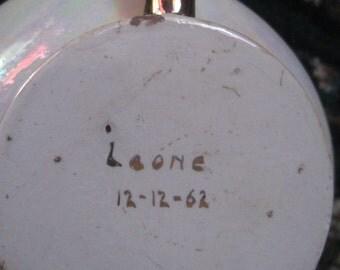 vintage candle holder genie lamp 1962 signed